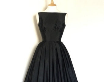 Black Grosgrain Tiffany Prom Dress - Made by Dig For Victory