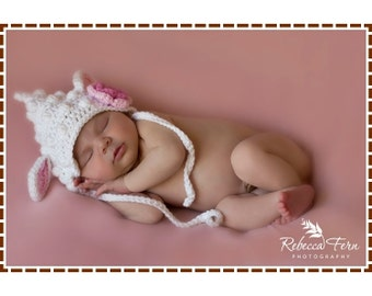 Lamb Hat Crochet Pattern, 8 Sizes from Newborn to Adult, LIL' LANIE LAMB - pdf 140