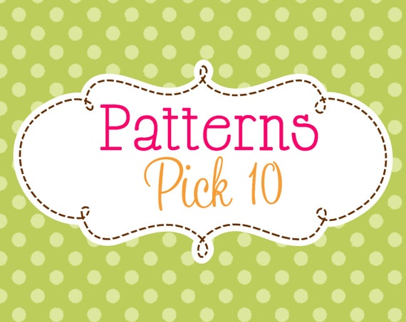10 Crochet or Knitting Patterns Savings Pack, PDF Files, Permission to Sell Finished Items, Bundle Deals