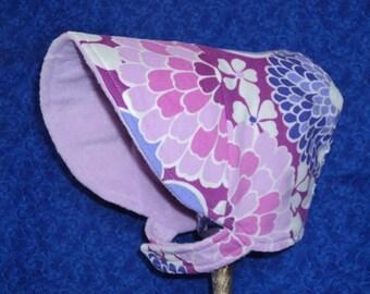 Winter Baby Bonnet Purple Corduroy