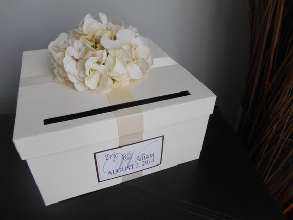 Wedding Card Box Reception CardBox Gift Card Box Handmade Wedding Gift ...