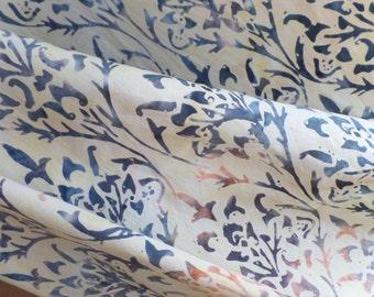 Cotton Batik Neutral Colors by Anthology Fabrics Classic Fleur de Lis AF6092
