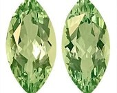 Matched Pair of Green Beryl Genuine Unheated Gems, Marquise Cut, 5.03 carats