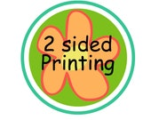 Double Sided Printing on any bag tag in our shop