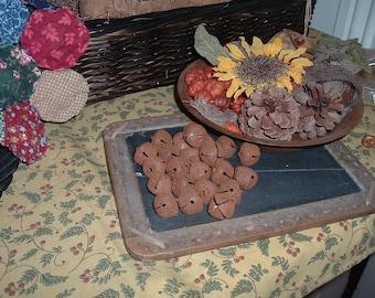 20MM Rusty Tin 24 Jingle Bells Primitive Crafts Rustic Fixins