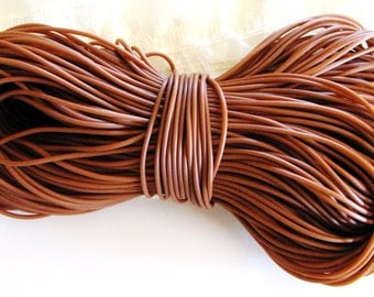 Rubber Cord tube 2mm(0,08in), hole 0,8mm(0,03in), PVC, Brown- 4,5m/5 yards(1 piece)