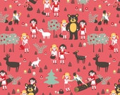 Organic Popeline | Snow White & Rose Red, 1/2 yard