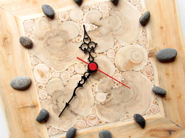 Juniper Wood Clock Natural Handmade Wall Clock Small Wooden
