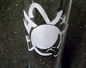 Hitchhiker's Guide to the Galaxy pint beer glass tumbler
