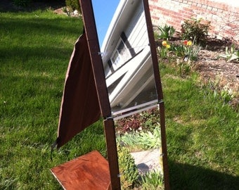 Folding Portable Full Length Mirror Extra Strength And