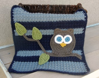 Owl Baby Blanket Lovey Size Baby Shower Gift