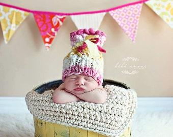 Newborn Photo Prop Chunky Baby Blanket Photography Prop Basket Filler Basket Stuffer Mini