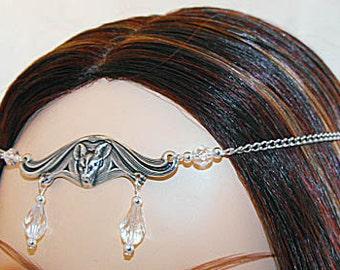 Lilith CUSTOM color Gothic Vampire BaT CIRCLET head piece diadem crown tiara Item 1392
