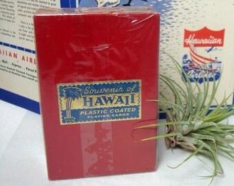 Hawaii Souvenir Deck Playing Cards Sealed Box Funny Hula Dancer