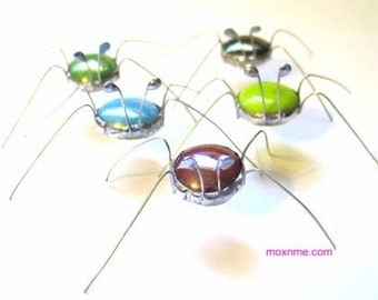 Set of 5 Stained Glass Screen Bugs