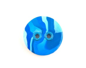 Large grommeted button blue swirls