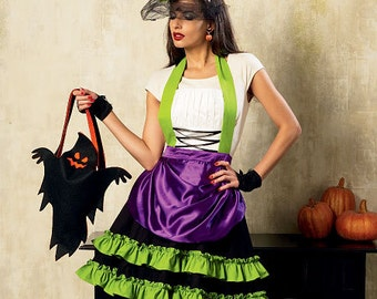 McCall's Halloween Decorations M6811:  Halloween Apron, Hat, Bag, Ghost and More - One Size