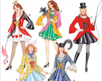 Sz 6/8/10/12 - Simplicity Costume Pattern 3685 - Misses' Costumes in 5 Variations