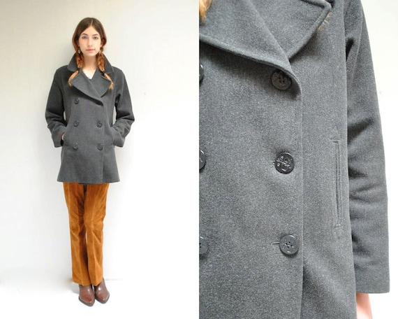 reserved.Womens Pea Coat // Wool Pea by VintageUrbanRenewal