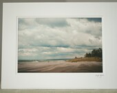 SALE Matted Lake Erie Pennsylvania Photograph Beach Photography clearance ready to frame
