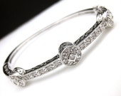 bridal wedding jewelry christmas gift prom party bridesmaid pageant cubic zirconia vintage style faux marcasite cuff bangle bracelet