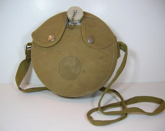 Vintage Boy Scout Canteen With Cover