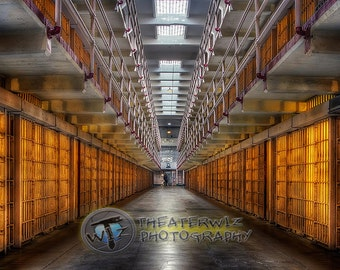"Alcatraz Main Cell Block ""The Rock""  Fine Art  Photographic Print"