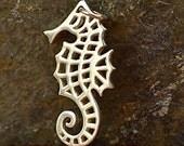 Sterling Silver Seahorse Charm - C1235, Nautical Charms, Sealife, Ocean, Beach