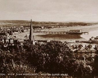 Worlebury, Weston Super Mare, Somerset, England - Unused Vintage RPPC Postcard