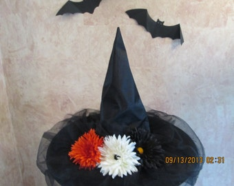Daisy Witch Hat - Halloween Witch Hat - Costume Witch Hat - Witches Hats -
