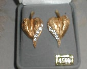 18KT gold on sterling Earrings with Swarovski Crystals