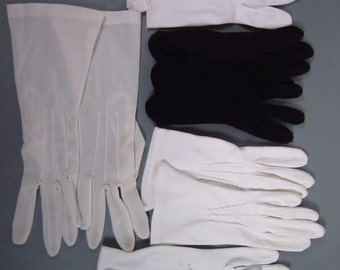 Five pair vintage gloves - need repair-(229g)