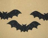 Handmade Applique Trio of Bat's - Iron on Sew on