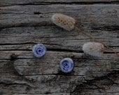 SALE - Last pair -  Lovely blue snails ceramic ear studs on sterling silver posts
