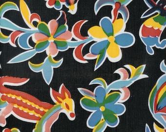 Aztec Black 1 Yard Oilcloth