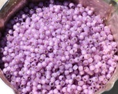 10 grams of 8/0 sized Silver Lined Milky Amethyst TOHO seed beads (TH189)