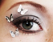 3pcs Butterfly Eye Makup Stickers - White Eye Shadow - Glitter Eyeshadow Decals - 3pcs