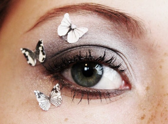 3pcs Butterfly Eye Makup Stickers