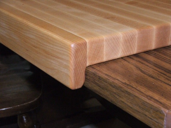 Countertop Edge Cutting Board : Hard Maple Cutting Board 18