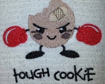 Tough Cookie Embroidered Cotton Kitchen Towel