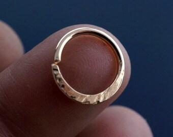 SEPTUM RING - Cartilage hoop. 16g  nose ring - earring -  12mm  hoop - endless nipple ring  - nose - belly button -  hoop No.00503