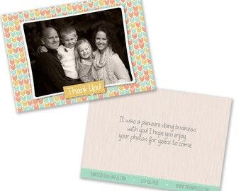 INSTANT DOWNLOAD -  Thank you Card Template for Photographers - 0844