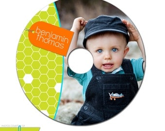 INSTANT DOWNLOAD -  Cd/DVD Label Photoshop template - 0858
