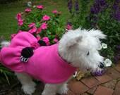 Pink n Gingham  Rosette Dog Jacket, Dog Coat, Dog Jackets, pet clothing, made in USA