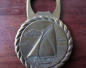 Nautical Bronze Bottle Opener Sailing Vessel HARBINGER
