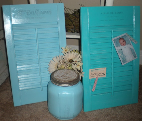 Teal Shutters: Unavailable Listing On Etsy