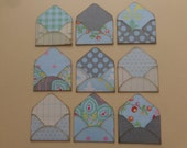 9  mini envelopes