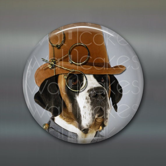 3.5 Steampunk Magnet Hound Dog Decor Kitchen Decor
