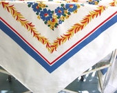 Vintage Tablecloth Floral