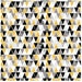 Yellow Black and Grey Triangles - Organic Cotton Fabric - Cloud9 iHaus - One Yard